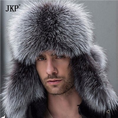 зимняя шапка из чернобурки и енота