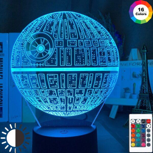 Светодиодный светильник звезда смерти звездный войны 7 цветов