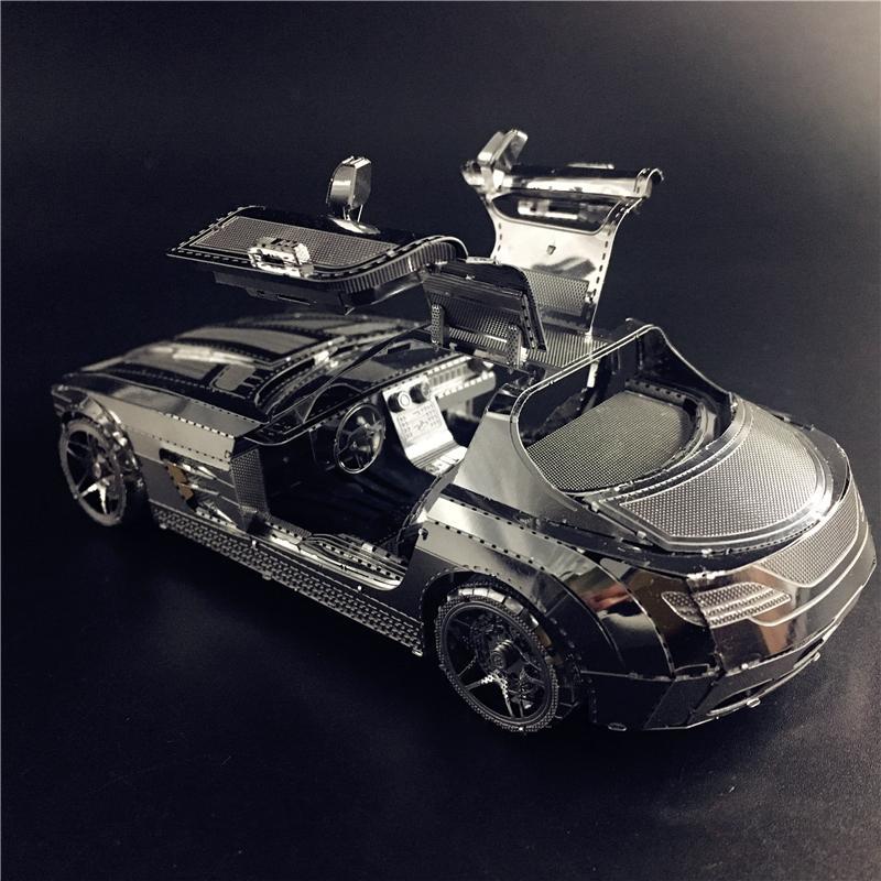 3д пазл из металла гоночный автомобиль