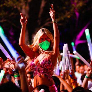 светящаяся светодиодная маска