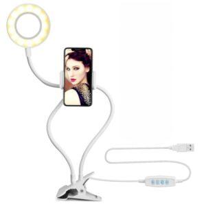 держатель для телефона с лампой для селфи